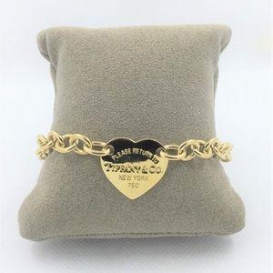 Tiffany & Co 18k Return to Tiffany Heart Tag Brace